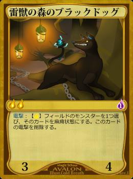 雷獣の森のブラックドッグ