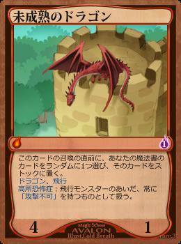 未成熟のドラゴン
